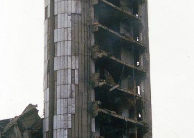 BOSNIA grattacielo del giornale Oslobodjenie a Sarajevo