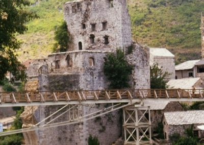 BOSNIA ponte di Mostar subito dopo la guerra